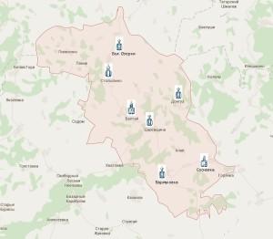 Карта Благочиния1